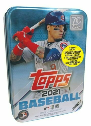 2021 Topps Series 1 Baseball Factory Sealed Collector's Tin Javier Baez Version