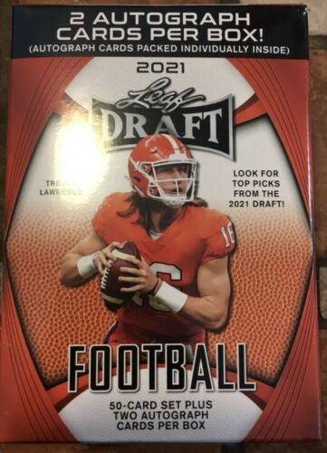 2021 Leaf Draft Football Blaster Box Factory Sealed Hot Rookies