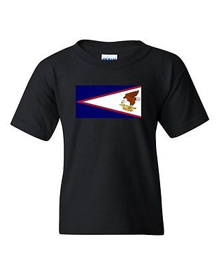 American Samoa Country Flag State Pago Nation Patriot DT Youth Kids T-Shirt Tee