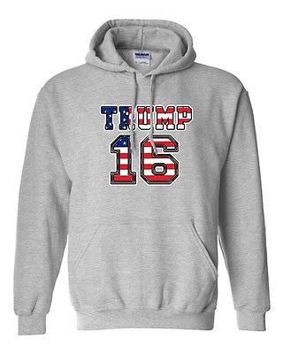 Donald Trump 16 2016 President Vote Election USA Campaign DT Sweatshirt Hoodie