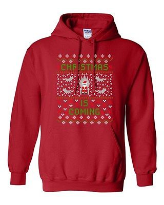 Christmas Is Coming Santa Claus Winter Snow TV Funny Parody DT Sweatshirt Hoodie