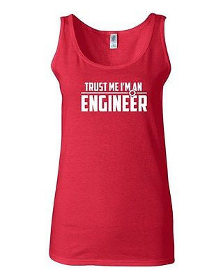 Junior Trust Me I'm An Engineer Professional Novelty Statement Graphics Tank Top
