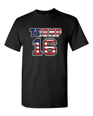 Donald Trump 16 2016 Vote President Election USA Campaign DT Adult T-Shirt Tee