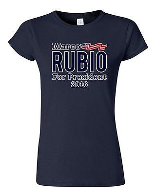 Junior Marco Rubio For President 2016 USA Vote Election Campaign DT T-Shirt Tee