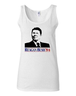 Junior Ronald Reagan Bush '84 Election Classic Novelty Statement Tank Top