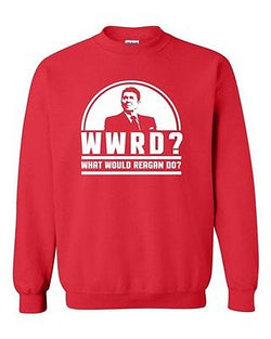 WWRD What Would Reagan Do? President Election 84 Funny DT Crewneck Sweatshirt