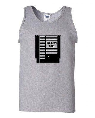 Blow Me Video Game Cartridge Birthday Celebrant Humor Novelty Adult Tank Top