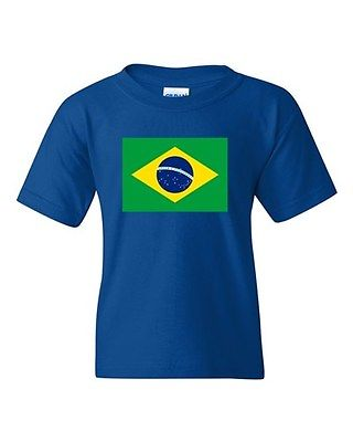 Brazil Country Flag Brasilia Latin Nation Patriotic DT Youth Kids T-Shirt Tee