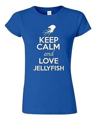 Junior Keep Calm And Love Jellyfish Jellies Ocean Animal Lover Humor T-Shirt Tee