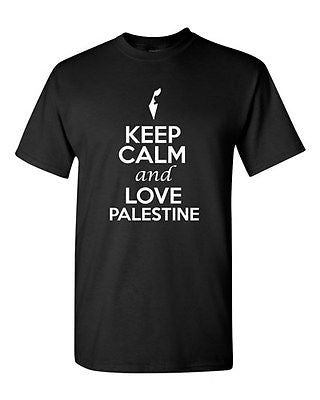 Keep Calm And Love Palestine Country Patriotic Novelty Adult T-Shirt Tee
