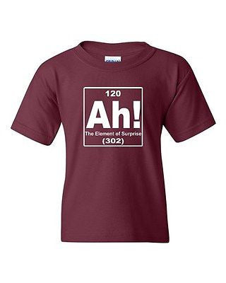 Ah! The Element Of Surprise Chemistry Funny Novelty Youth Kids T-Shirt Tee