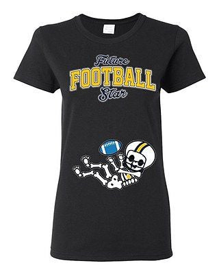 Future Football Star San Diego Baby Skeleton Ladies DT T-Shirt Tee