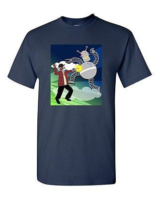 Stylized Robot Cyborg Funny Tanya Ramsey Artworks Art DT Adult T-Shirts Tee
