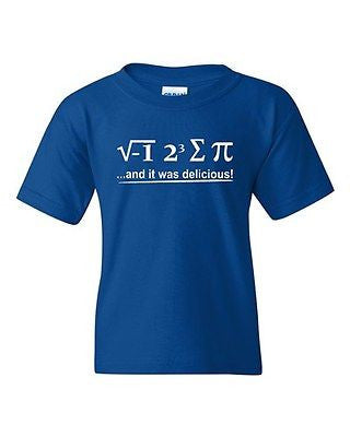 I 8 Sum Pi And It Was Delicious Mathematics Novelty Youth Kids T-Shirt Tee