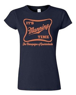 Junior It's Manning Time Script Funny Humor Parody Football Sports T-Shirt Tee
