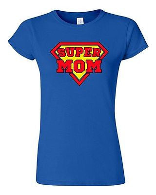 Junior Super Mom Superhero Supermom Hero Mothers Day Gift Funny DT T-Shirt Tee