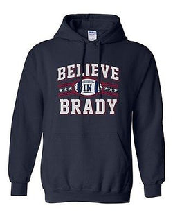 Believe In Brady Ball MVP New England Football Sports Fan DT Sweatshirt Hoodie