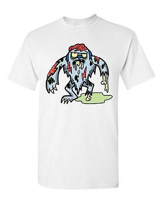 Zombie Yeti Undead Animals Snowman Devil Monster Horror Adult DT T-Shirt Tee