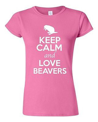 Junior Keep Calm And Love Beavers Rats Rodents Animal Lover Humor T-Shirt Tee