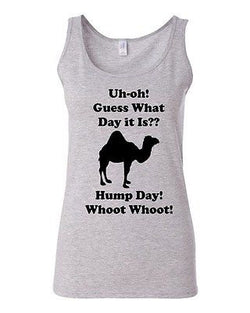 Junior Hump Day! Camel Animals Funny Humor Novelty Statement Graphics Tank Top