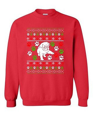Dog Puppy Paws Lover Pet Ugly Christmas Funny DT Novelty Crewneck Sweatshirt