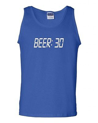 BEER 30 Seconds Alcohol Drinking Contest Novelty Graphic Humor Adult Tank Top