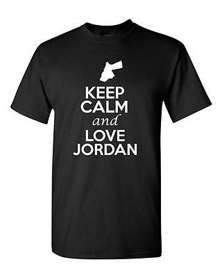Keep Calm And Love Jordan Country Nation Patriotic Novelty Adult T-Shirt Tee