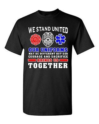We Stand United Our Uniforms Brings Us Together Law Proud DT Adult T-Shirt Tee