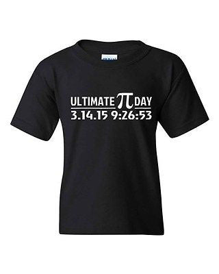 Ultimate Pi Day 3.14 2015 Math Geek Number Mathematics DT Youth Kid T-Shirt Tee