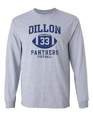 Long Sleeve Adult T-Shirt Dillon Football Retro Sports 33 Game Players Ball DT