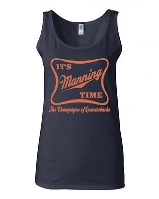 Junior It's Manning Time Football Fan Wear Graphic Humor Novelty Tank Top