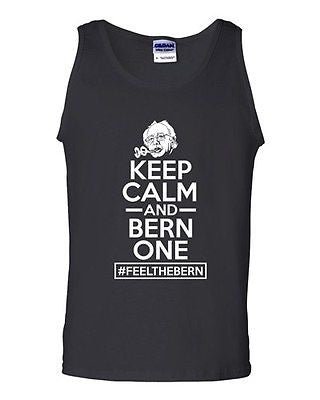 Keep Calm And Bern One Feel The Bern President Vote Campaign DT Adult Tank Top