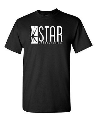 Star Labs Captain TV Laboratories Labs Logo Comics Novelty Adult DT T-Shirt Tee