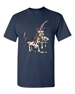Zombie Unicorn Undead Animals Devil Monster Horror Adult DT T-Shirt Tee