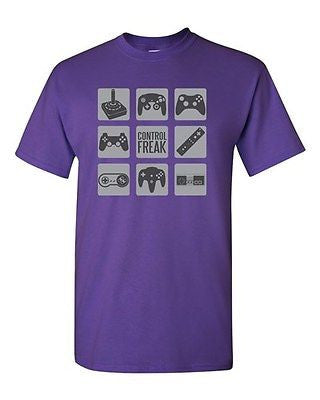 Control Freak Game Controller Gamer Novelty DT Adult T-Shirt Tee