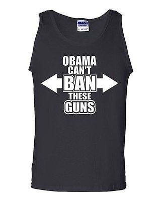 Adult Obama Can't Ban These Guns Pro Gun 2nd Amendment Many Colors Tank Top