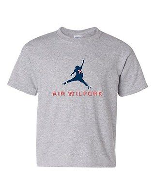 Air Wilfork New England Football Parody Game Sports DT Youth Kids T-Shirt Tee