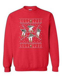 Bling Dance Telephone Music Song Parody Ugly Christmas DT Crewneck Sweatshirt