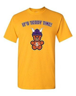 It's Teddy Time Minnesota Football Purple Sports Fan Adult DT T-Shirt Tee