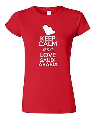 Junior Keep Calm And Love Saudi Arabia Country Patriotic Novelty T-Shirt Tee