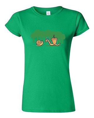 Junior Randy Otter Worm Bully Snail Plant Portray Cute Funny Arts DT T-Shirt Tee