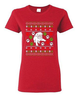 Ladies Dog Puppy Paws Lover Pet Ugly Christmas Gift Humor Funny DT T-Shirt Tee
