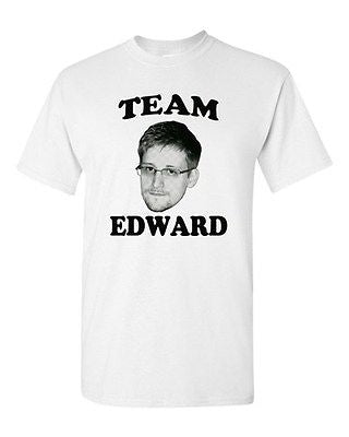 Adult White Team Edward Snowden American Hero USA Rights Privacy T-Shirt Tee