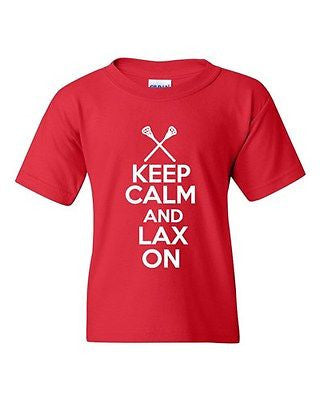 Keep Calm And Lax On Novelty Youth Kids T-Shirt Tee