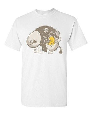 Flying Eggs Battle Gege Artworks Clever Art Boxing Funny DT Adult T-Shirt Tee