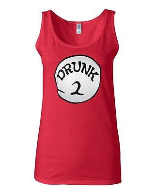 Junior Drunk 2 Beer Lover Funny Humor Graphic Novelty 100% Cotton Tank Top