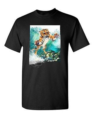 Tiger Make Up Wild Animal Cats Tanya Ramsey Artworks Art DT Adult T-Shirts Tee