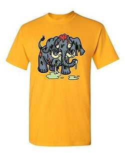 Zombie Elephant Undead Animals Devil Monster Horror Adult DT T-Shirt Tee