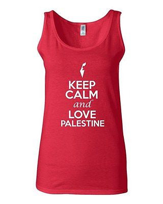 Junior Keep Calm And Love Palestine Country Nation Patriotic Sleeveless Tank Top