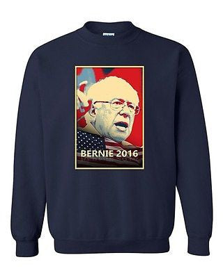 Bernie 2016 Election Vote President Campaign Politics DT Crewneck Sweatshirt